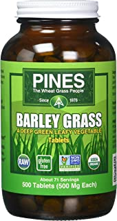 Pines International Barley Grass Tablets, 500 Count