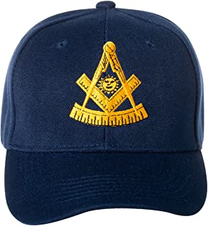 LOVB ZLAO Flag of Maryland Masonic Symbol Adjustable Men and Women Truck Cap Cowboy Hat Dad Hat