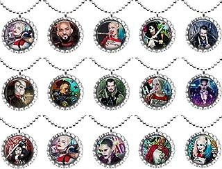 CheeseandU Infinity Harley Quinn Bracelet Red Black Rope Silver Leather Bracelet Poker Card Charm Braided Bracelet Ideal Gift for Kids Girl Women Suicide Squad Fans Bday Gift Party Favor