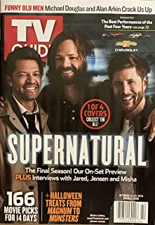 TV GUIDE WEEKLY MAGAZINE - OCT. 14-27, 2019 - SUPERNATURAL 1 OF 4 COVERS