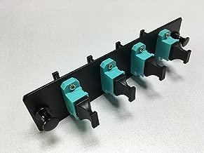 RiteAV LGX Footprint MPO Adapter Panel, 4 Ports, Loaded w/4 MPO Adapters, OM3, 10Gig, Black
