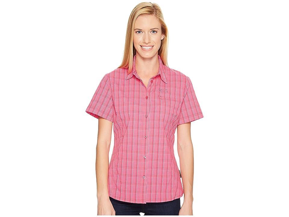 Jack Wolfskin Centaura Stretch Vent Shirt (Tropic Pink Checks) Women