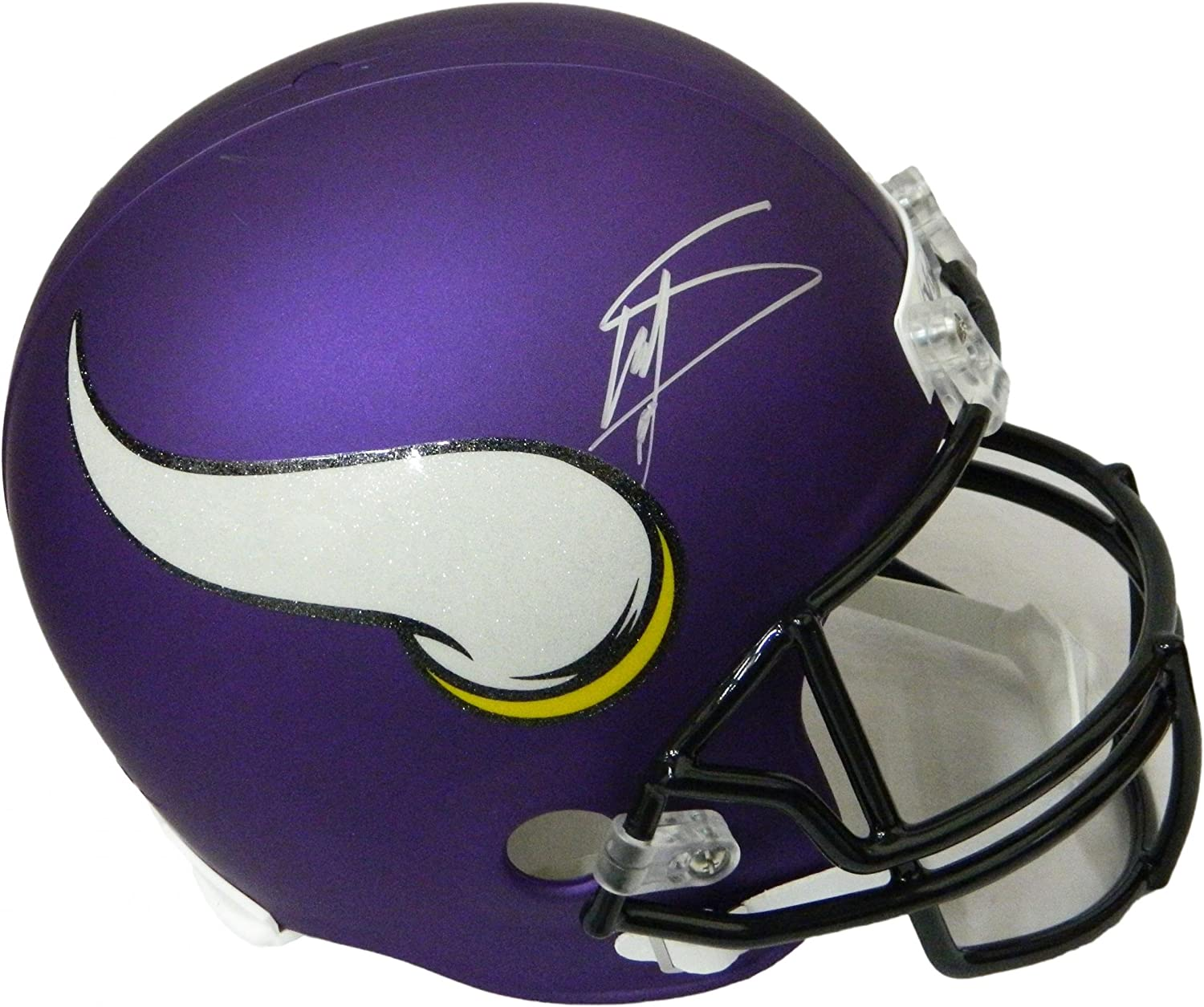 Autographed Stefon Diggs Helmet  Riddell Full Size Replica  Autographed NFL Helmets