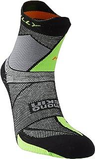 Hilly Mens Ultra Marathon Fresh Running Socks - Black/Grey/Green
