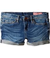 Blank NYC Kids - Denim Distressed Cuffed Shorts in Dress Down Party (Big Kids)