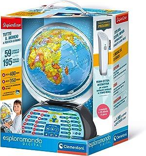 Clementoni 12097 Mappamondo Digital-Interactive Educational Globe (Italian Version) -World map for Children, 7 Years+, Mul...