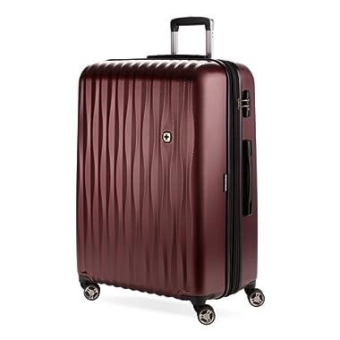 SWISSGEAR 7272 Energie Hardside Polycarbonate Spinner, Large Checked Luggage - Tawney