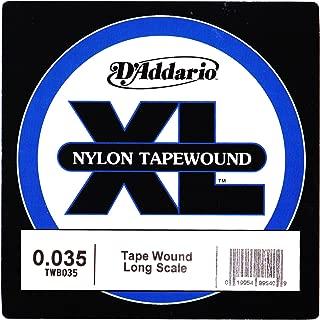 D'Addario TWB035 Nylon Tape Wound Bass Guitar Single String, .035