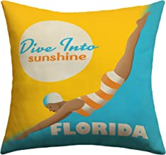Deny Designs Anderson Design Group Dive Florida Outdoor Throw Pillow, 16 x 16