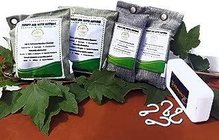 Natures Bamboo Charcoal Air Purifying Bag (9 Pcs) Natural Air Freshener Bags, Activated Charcoal Odor Eliminators, Car Air Purifier, Closet Freshener, Home Air Freshener , ( MULTI - PACK) Free Hook