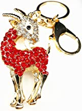 Betterdecor Feng Shui Bejeweled Auspicious Ram/Goat/Sheep/Key Ring (with a Bag)-4