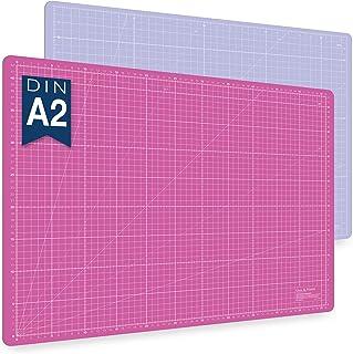 Guss & Mason tapis de découpe auto-cicatrisant A2, rose, bleu ou vert. Parfait pour la couture, le bricolage et le patchwo...
