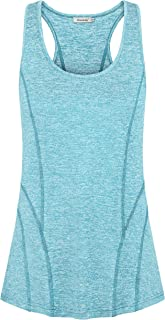 Ninedaily Women's Sleeveless Workout Tank Top Scoop Neck Banded Racerback Shirts