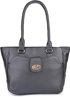 Aisna Women's Kate Handbag (ASN-167)(Black)