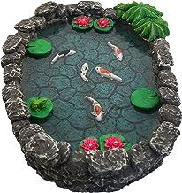 GlitZGlam Estanque KOI en Miniatura – Estanque KOI para Jardín de Hadas. Estanque en Miniatura para Jardín de Hadas en Miniatura, Accesorios y Complementos para Jardín Encantado de