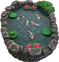 GlitZGlam KOI Miniature Pond - Koi Pond for a Fairy Garden. A Miniature Pond for a Miniature Fairy Garden and Enchanted Garden Accessories