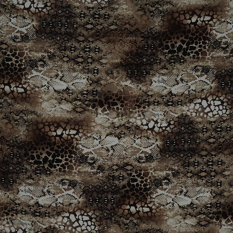 Fabtrends Texture Koshibo Animal Snake Skin Cognac