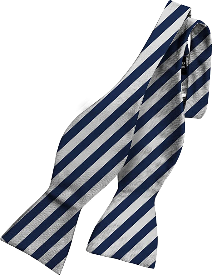 History of 1920s Men's Ties, Neckties, Bowties Bow Ties For Men - Mens Woven Self Tie Bowties For Men Bowtie Stripes Tuxedo & Wedding Striped and Solids Bow Tie  AT vintagedancer.com