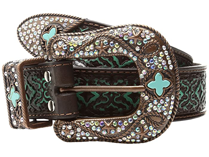 M&F Western Diamond Turquoise Embossed (Brown) Women