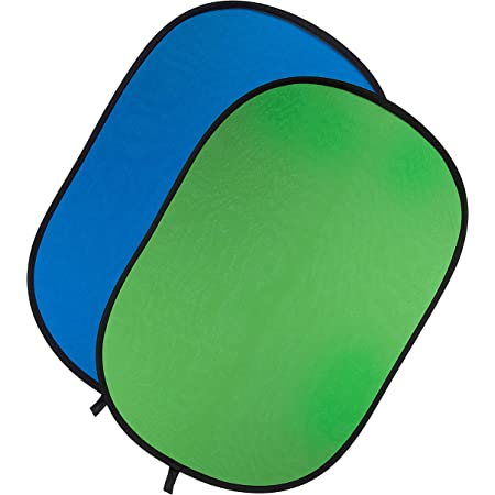 Fotodiox Chromakey Green and Blue Jacket Cover, fits 40x60 5-in-1 Oval Reflector Pro Collapsible Disc Kit Collapsible