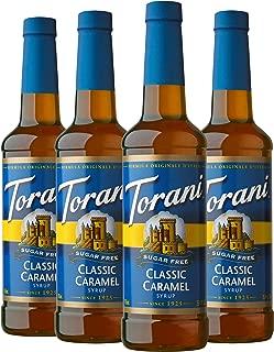 Torani Sugar Free Syrup, Classic Caramel, 25.4 Ounces (Pack of 4)