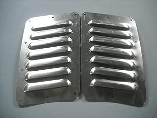 "RodLouvers Pair of Angled Aluminum 5"" 7 Louver Hood Panels (Bolt-On) Kit"