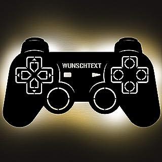 Gaming Controller 2 Lampe aus Holz - personalisierbares Geschenk für Männer - Gaming Zimmer Deko - Gamingpad Lampe - perso...