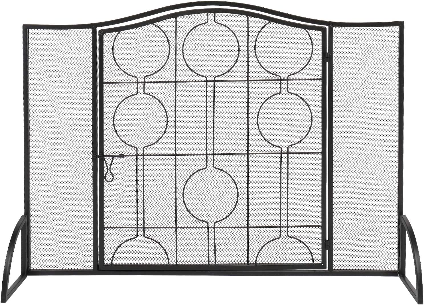 Spaco Curve Outlet ☆ Free Shipping Decorative Iron Fireplace Screen Firepla Guard Max 86% OFF Spark