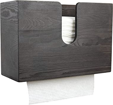 Amazon Com Pengke Retro Wood Paper Towel Dispenser Wall Mount And Countertop Multifold Paper Towel Holder C Fold Zfold Tri Fold Hand Towel Holder For Bathroom And Kitchen Brown Office Products