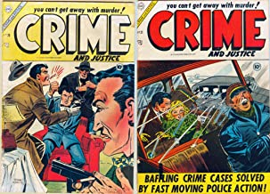 Crime and Justice Issues 20 & 21. You can't get away with murder. Baffling crime cases solved by fast moving police action. (Golden age crime and justice comics Book 8)