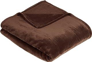 comprar comparacion AmazonBasics - Manta, hecha de felpa de terciopelo suave - 127 x 152 cm - marrón chocolate