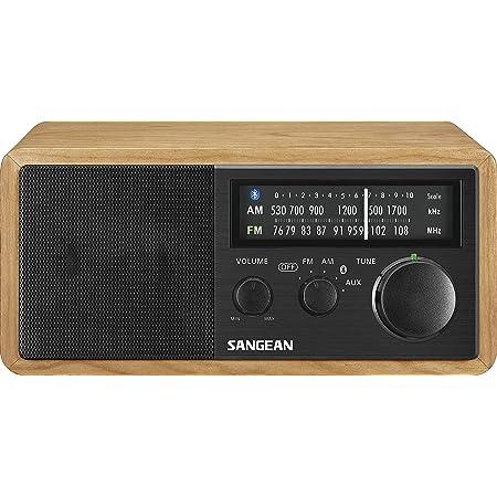 SANGEAN FM/AMラジオ対応 ブルートゥーススピーカー チェリー/ブラック WR-302 [Bluetooth対応]