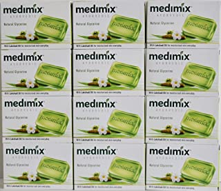 Medimix Herbal Handmade Ayurvedic Soap with Natural Glycerine With Lakshadi Oil for Dry Skin Pack of 12 (12 x 125 g)