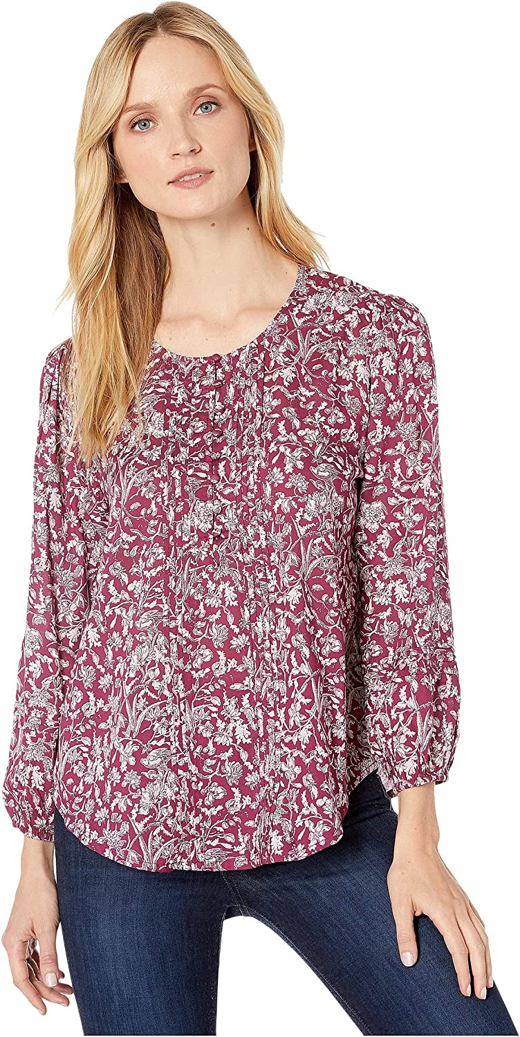 Lucky Brand Women/'s Size X-Small Printed Short Sleeve Knit Top