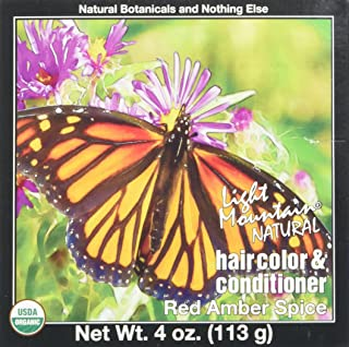 LIGHT MOUNTAIN Hair Color Hair Color Red Amber Spice, 0.02 Pound