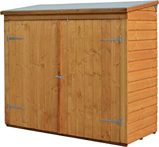 Bosmere WS1881H Rowlinson Wallstore Wooden Outdoor/Garden Lockable Storage Unit with Double Doors, Honey-Brown Finish