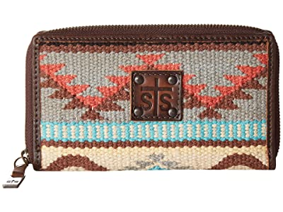 STS Ranchwear Bifold Wallet (Tornado Brown/Sedona Serape) Wallet Handbags