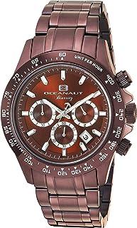 ساعة اوشينت بيارتز انالوج كوارتز للرجال مع سوار من الستانليس ستيل، لون بني، 20 (OC6116)