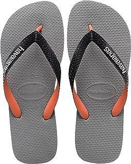 Havaianas Women's Top Mix Flip Flop Sandal, Steel Grey, 7/8 M US
