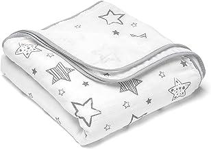 LAT Babydecke,120 x 120 cm 100/% Baumwolle Soft /& Cozy Baumwolle Babydecke,Baby Kuscheldecke,Kinderwagen Decke unisex Gr/üne Feder