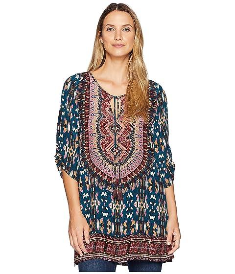 Tolani Krisanne Tunic Dress, BLUE