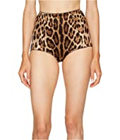 Dolce & Gabbana - Stretch Satin Cheetah High Waisted Panty