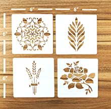 "Güden Pack of 4 European Artisan Bread Stencils (StencilGroup1) 6"" by 6''"