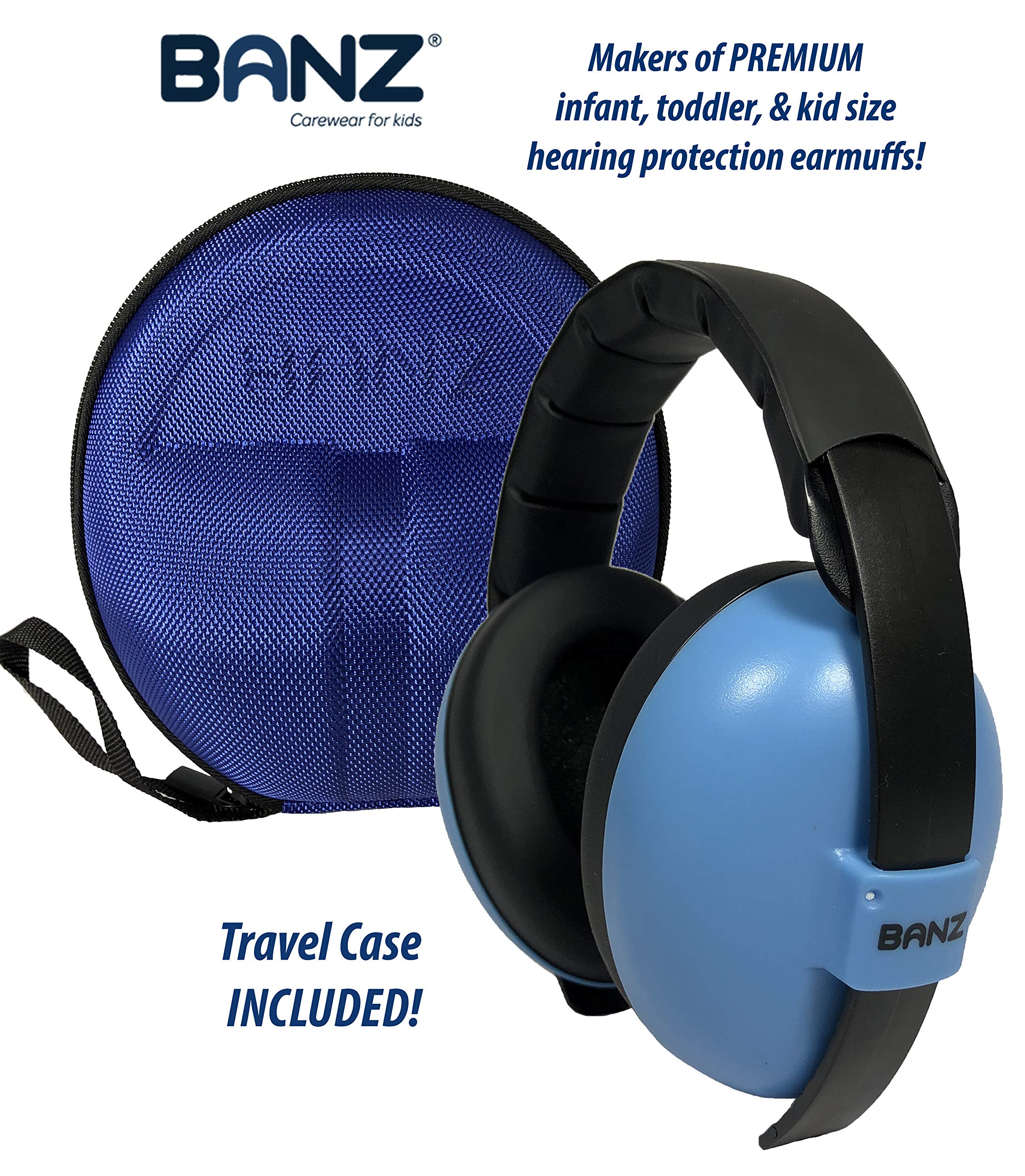 BANZ Earmuffs with Case – Infant Hearing Protection – Ages 0-2+ Years – The Best Headphones for Babies & Toddlers…