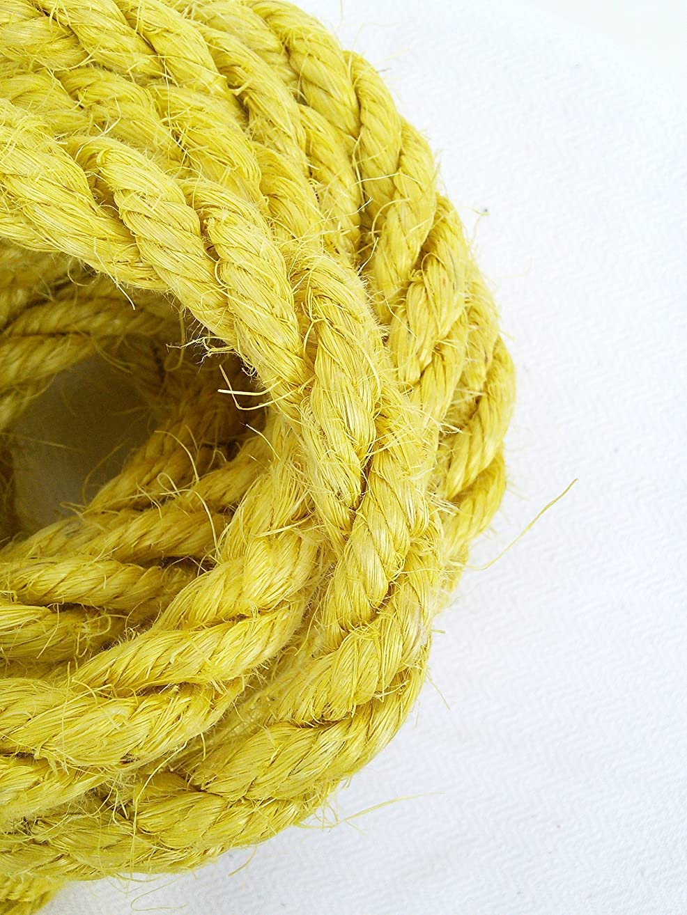 Yellow Sisal Rope, Dyed Citrus Yellow Color: 1/4