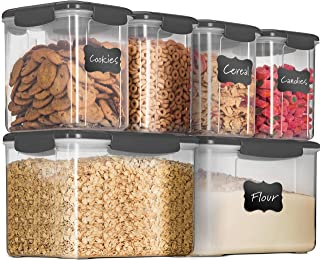 12-Piece Airtight Food Storage Containers With Lids - BPA-FREE Plastic Kitchen Pantry Storage Containers - Dry-Food-Storag...