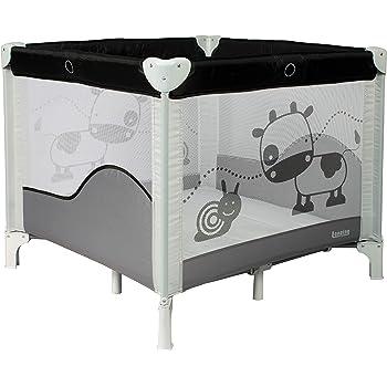 Rond Baby Vivo Parc B/éb/é Barri/ère S/écurit/é Portable Enfant Protection Porte Panel Espace Jeu Chambre Flexi Pliable en Gris