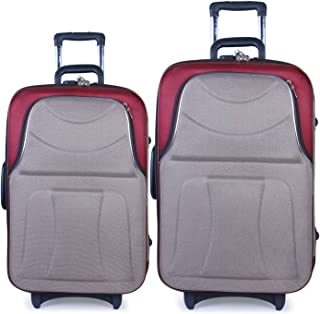 bf4da5ba17 Bags Bazar Polyester 48 L and 35 L Brown and Wine Red Soft Sided Travel  Trolley