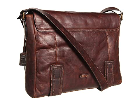 Brown Frye Dark Antique Up Logan Messenger Pull WcxWR6A8g