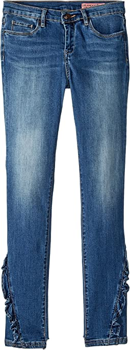 Denim Skinny with Ruffle Detail in Rapunzel (Big Kids)
